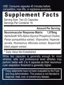 image of myosync supplement facts